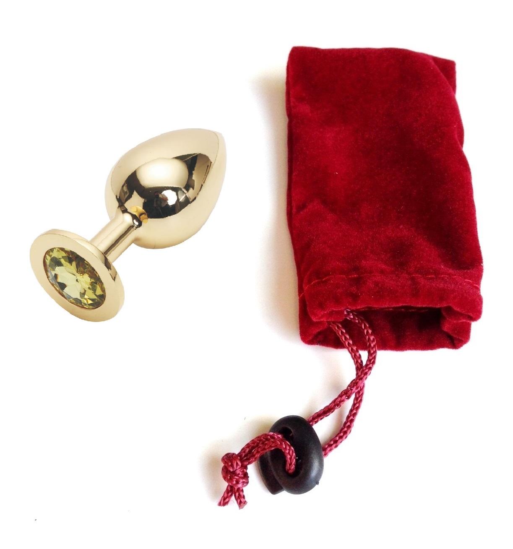 Анальная пробка Anal Jewelry Plug Gold Yellow L