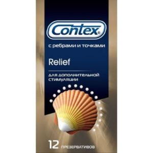 Презервативы Contex №12 Relief с ребрами и точками