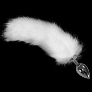 Анальная пробка с хвостиком Metal Anal Tail